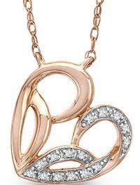 Jessica Simpson Diamond Accent Heart Pendant